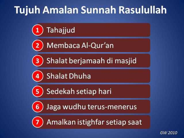 Tujuh Amalan Sunnah Rosulullah