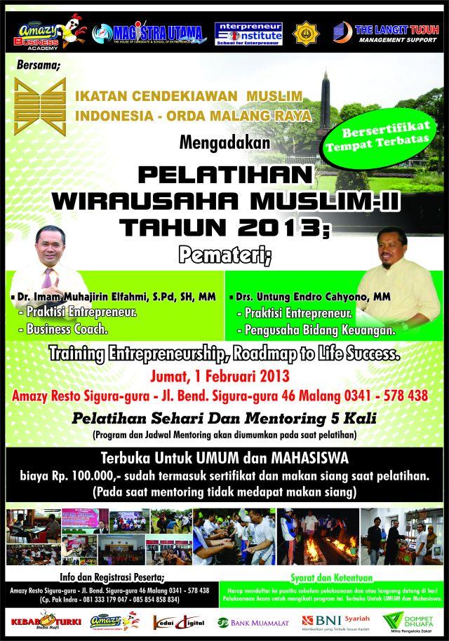 PELATIHAN WIRAUSAHA MUSLIM- II_ICMI Orda Malang Raya